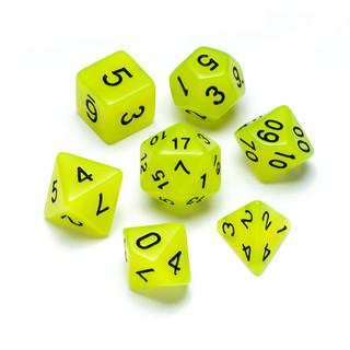 Flourescent Series Dice: Jade - Numbers: Black