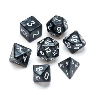 Pearl Series Dice_ Black - Numbers_ Whit