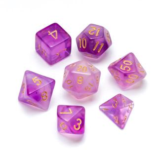 Nebula Series Dice: Purple - Numbers: Go