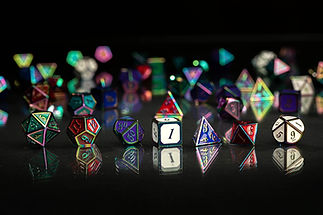 Rainbow Metal Dice