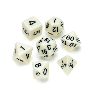 Opaque Series Dice: White - Numbers: Bla