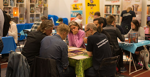 People playing boardgames