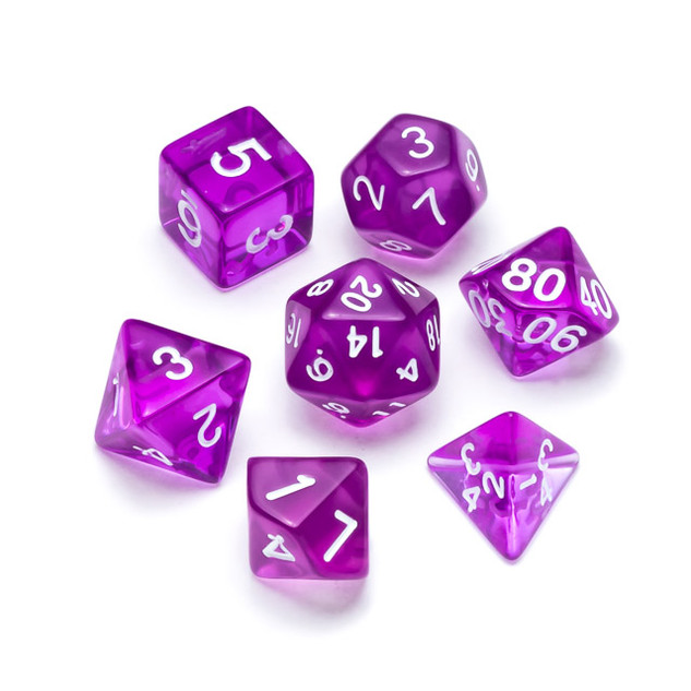 Transparent Series Dice: Purple - Number