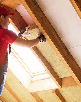 house attic insulation - construction wo