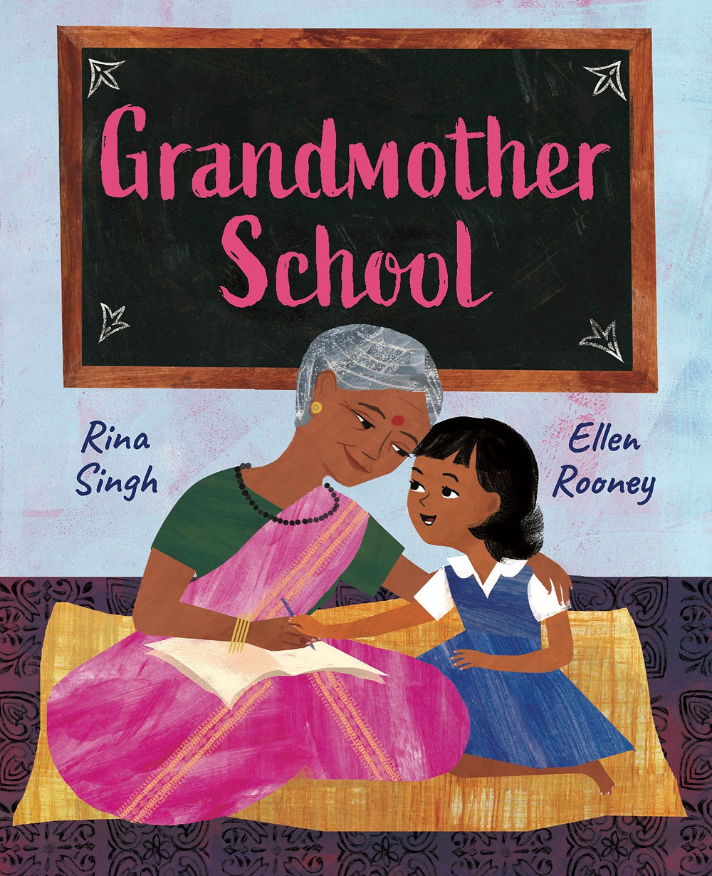 Coming May 5th in book stores and Amazon. A little about Grandmother School -  Every morning, a young girl walks her grandmother to the Aajibaichi Shala, the school that was built for the grandmothers in her village to have a place to learn to read and write. The narrator beams with pride as she drops her grandmother off with the other aajis to practice the alphabet and learn simple arithmetic. A moving story about family, women and the power of education—when Aaji learns to spell her name you'll want to dance along with her. Women in countless countries continue to endure the limitations of illiteracy. Unjust laws have suppressed the rights of girls and women and kept many from getting an education and equal standing in society. Based on a true story from the village of Phangane, India, this brilliantly illustrated book tells the story of the grandmothers who got to go to school for the first time in their lives.