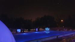 Evento piscina iluminada