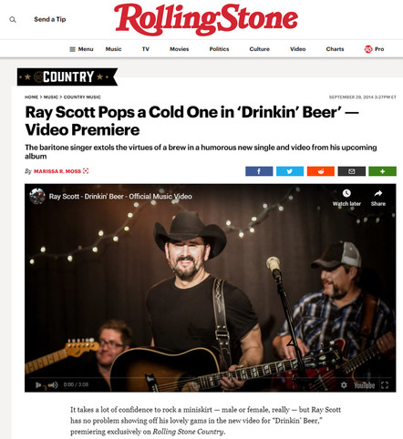 """Rolling Stones Ray Scott """"Drinkin'""""- Video Premiere"""