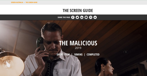 Screen Australia - The Malicious (2019)