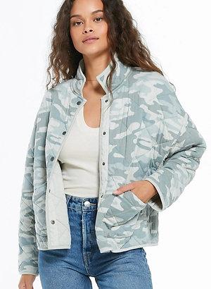 Maya Camo Quilted Jacket
