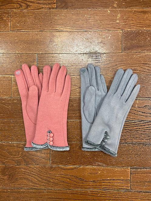 Faux Fur Trim Glove