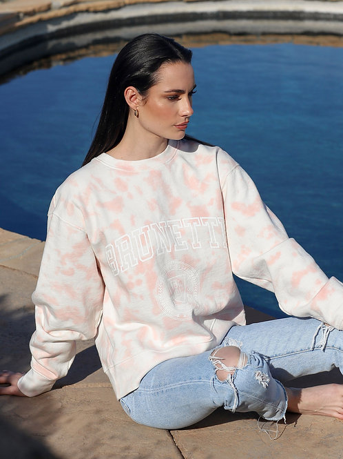 The Brunette Marble Tie Dye Step Sister Sweater