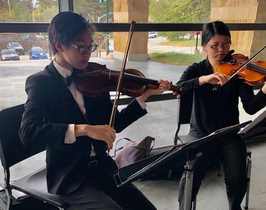 Natahn Nguyen and Diasy Swanson, York School Musicians