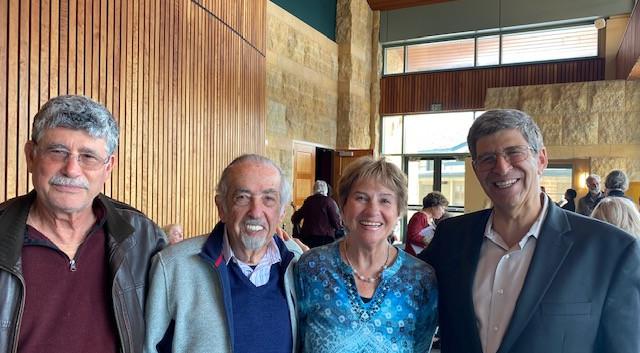 Robert Fenton, George & Lily Waissbloth, Rabbi Bruce Greenbaum