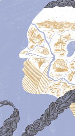 """Caterina Delli Carri illustra """"Storia di un cartografo samoano"""" di Gian Marco Griffi"""