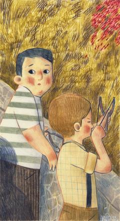 """Valentina Basso illustra """"Millenovecentocinquantotto (circa)"""" di Marco Tomatis"""