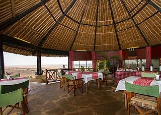 Lion Hill Safari Lodge dining room