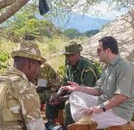 Shazaad with anti-poaching rangers