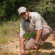 Shazaad planting trees