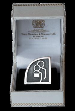 badge in box