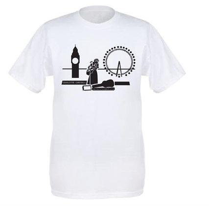 White Busking T Shirt