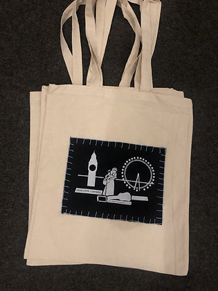 Tote Bag - Blue Stitches