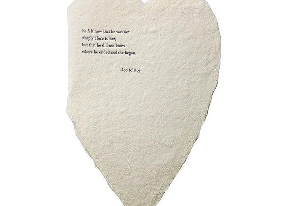 TOLSTOY BESPOKE LARGE HEART   CARD