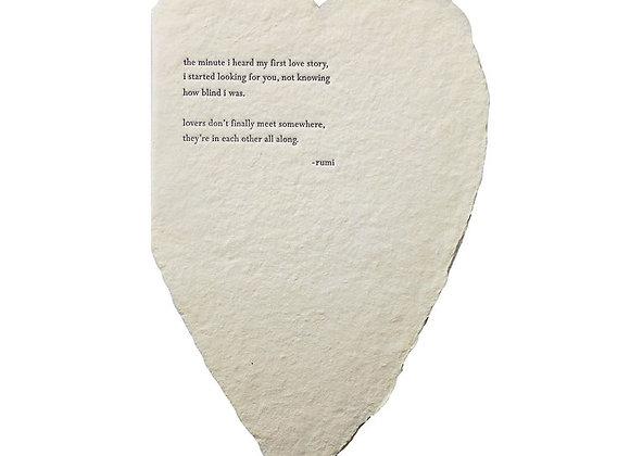 RUMI BESPOKE LARGE HEART CARD
