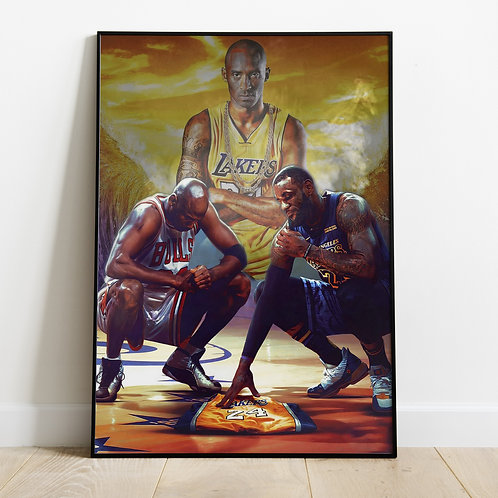 Jordan Kobe Lebron Poster