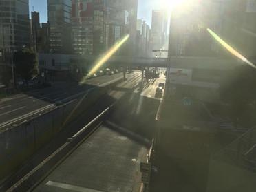 1月26日の朝の銀座駅