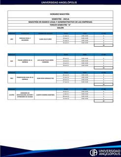 MAESTRÍA EN MARCO LEGAL Y ADMINISTRATIVO DE LAS EMPRESAS 3°