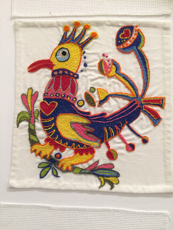 Stitch a bird for Peace
