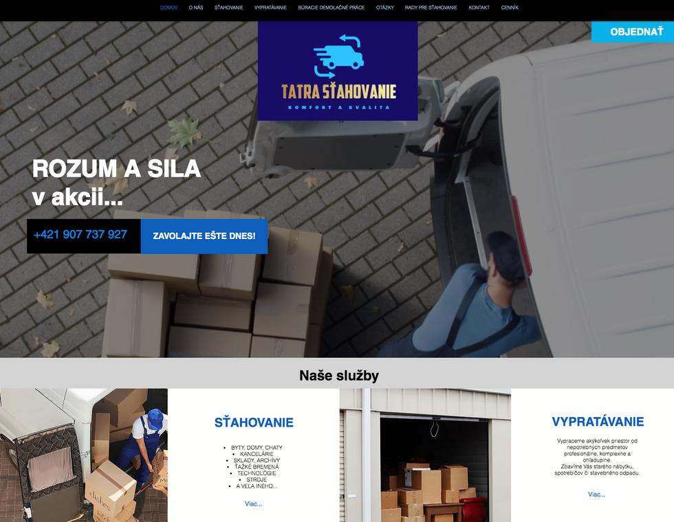 Web stránka pre Sťahovákov