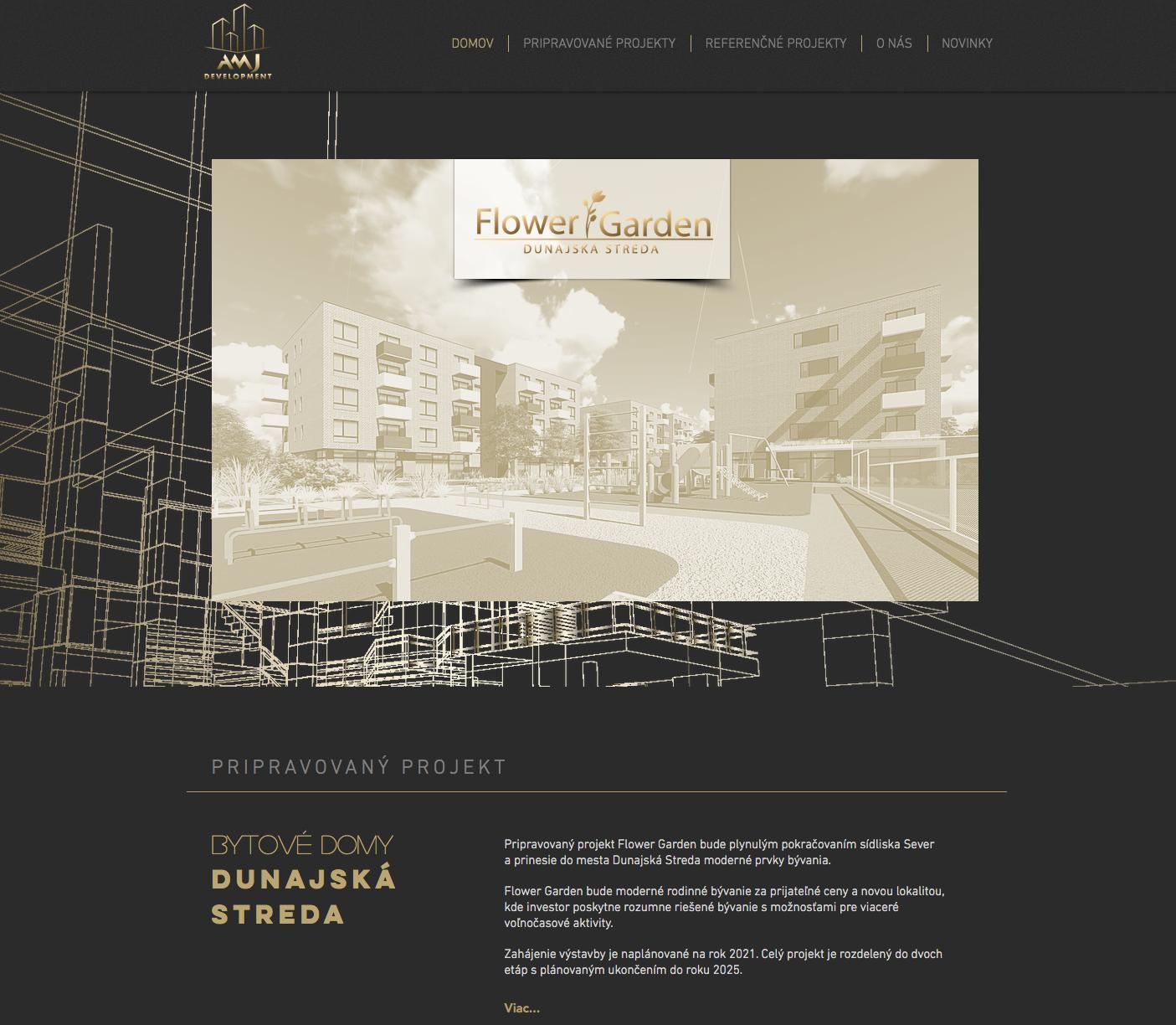 Web stránka pre Developerskú spoločnosť
