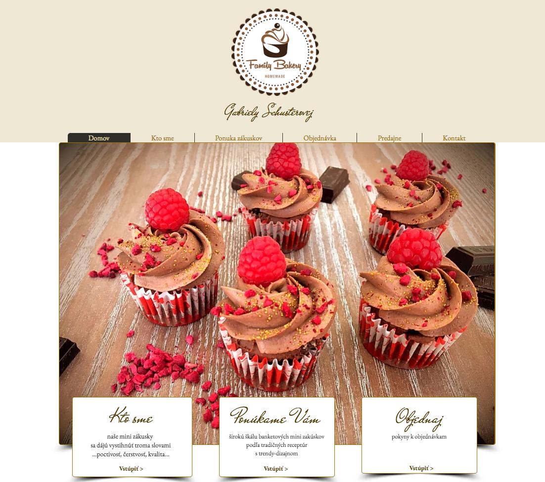 Web stránka pre Cukrárenskú manufaktúru