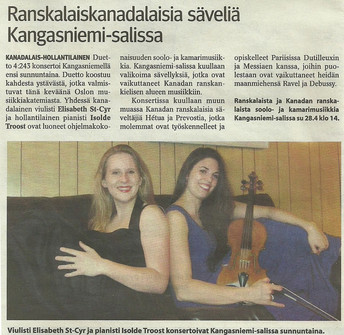Off to Finland - Concert in Kangasniemi
