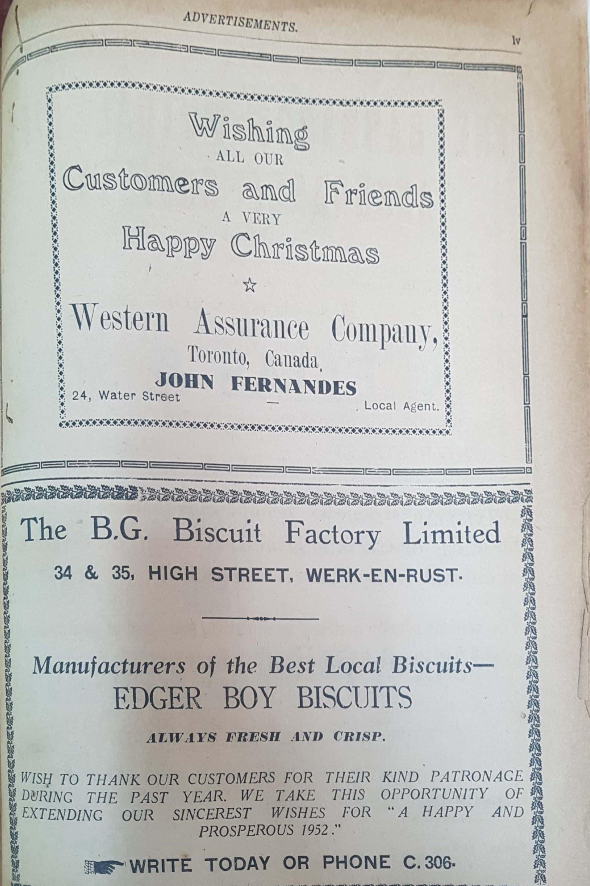 John Fernandes & BG Biscuit Factory