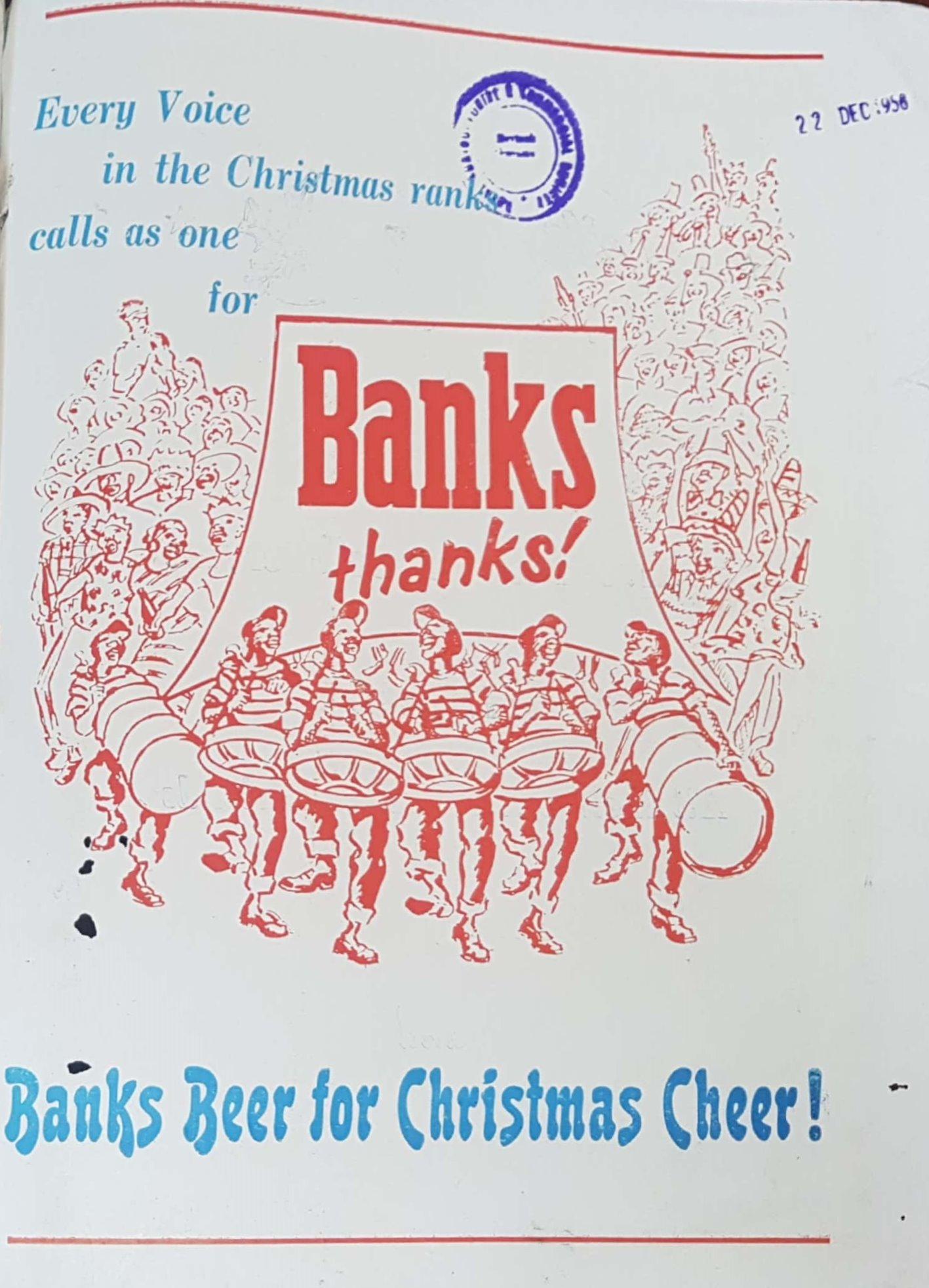 Banks Christmas Ad 1958