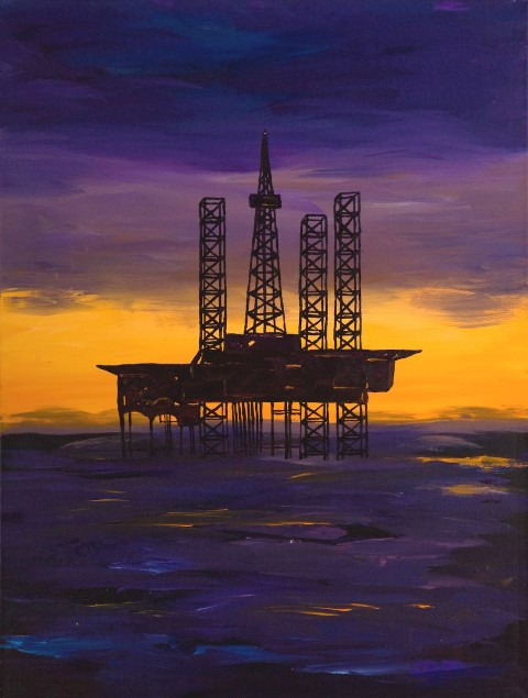 Offshore Eiffel by Greg Evans. You can buy original and canvas prints of his work on his website: evansart.com