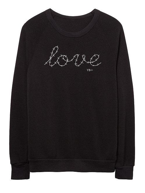 L O V E unisex eco-fleece sweater (black)