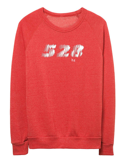 528 hz unisex eco-fleece sweater (red)