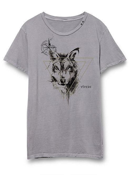 SPARTAN WOLF eyelet crew (grey)