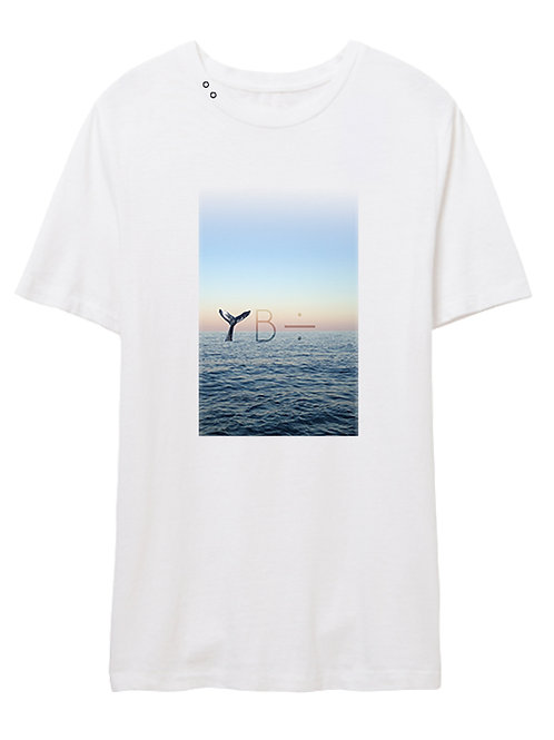 LONELY WHALE eyelet crew (white)