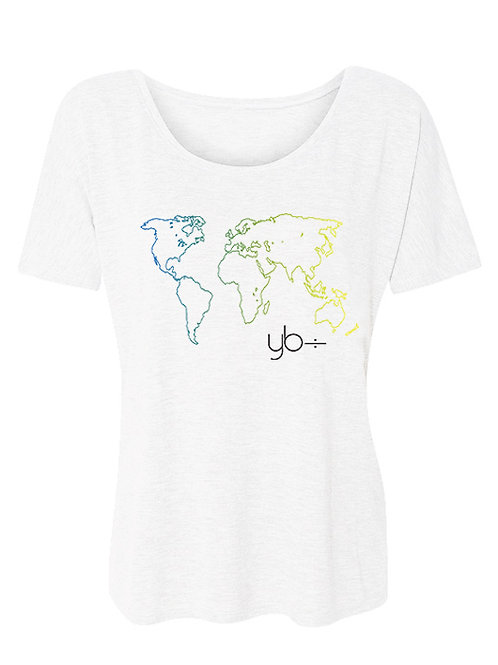 DIVERSITY OVER DIVISION scoop neck (white)