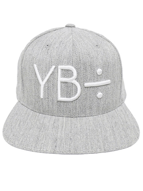 CLASSIC 6PANEL snapback (heather grey-white)