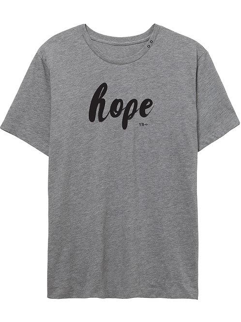 HOPE unisex organic eyelet crew (grey)