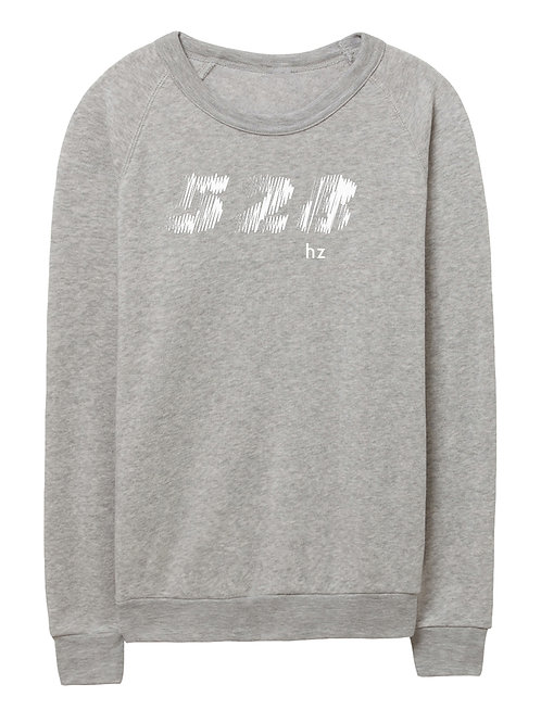 528 hz unisex eco-fleece sweater (light grey)