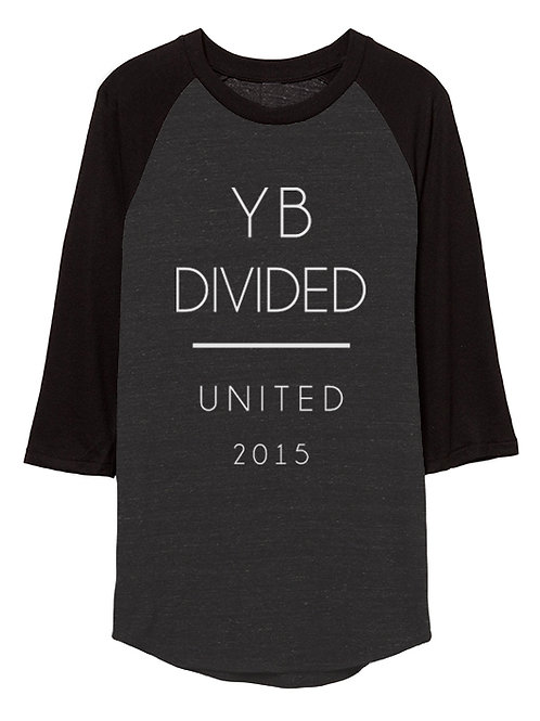 UNISEX UNITED 2015 3/4 sleeve raglan (black/dark heather grey)