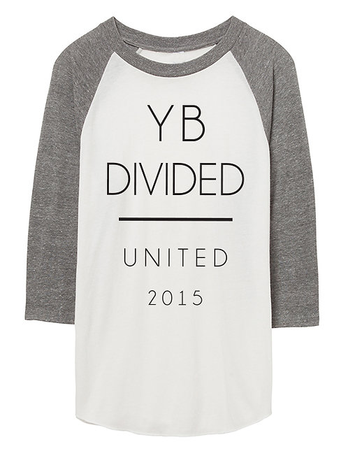 UNISEX UNITED 2015 3/4 sleeve raglan (white/heather grey)