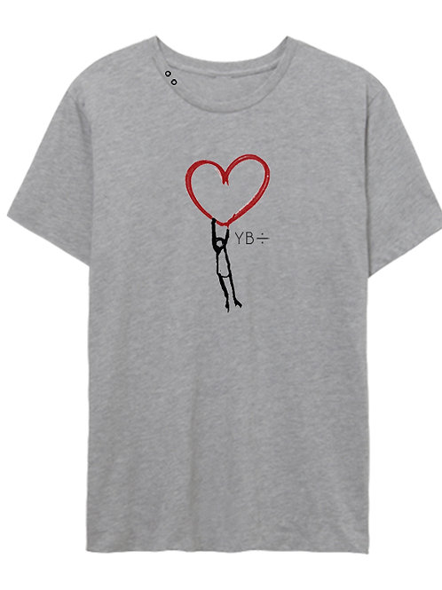 LOVE LIFTS eyelet crew (heather grey)