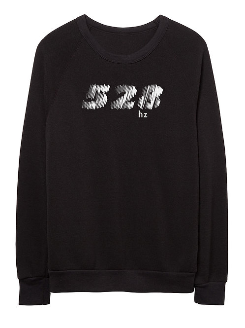 528 hz unisex eco-fleece sweater (black)